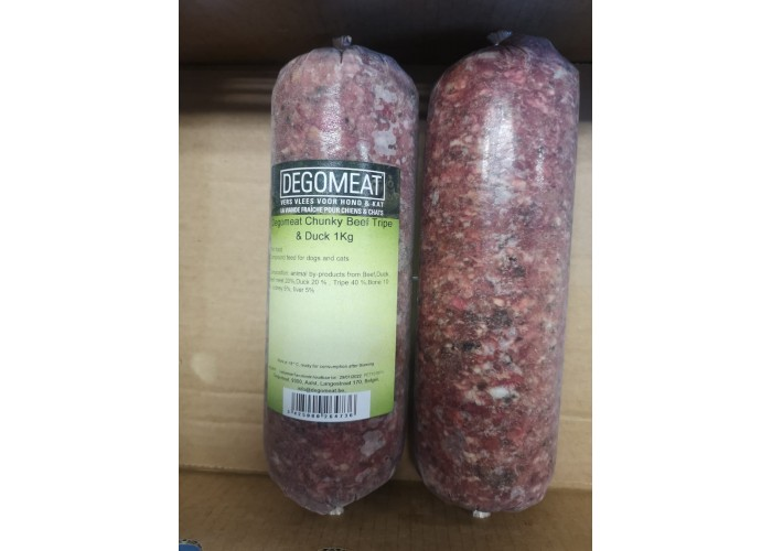 Degomeat Chunky 1kg Beef & Duck with Tripe