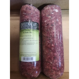 Degomeat Chunky 1kg Lamb & Duck with Tripe
