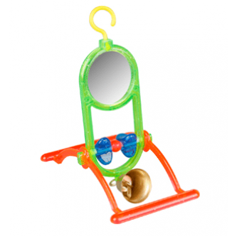 Hanging Mirror with Perch