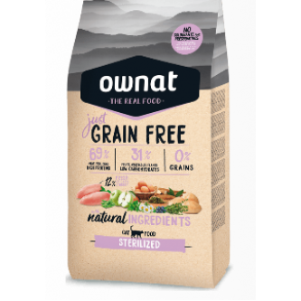Ownat Grain Free Cat Sterilised 1kg