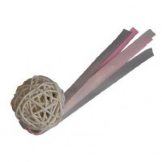 Straw Ball with Ribbon