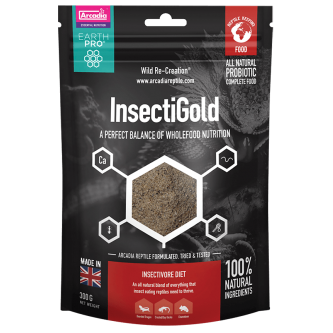 Arcadia InsectiGold All Natural Complete Food 300g